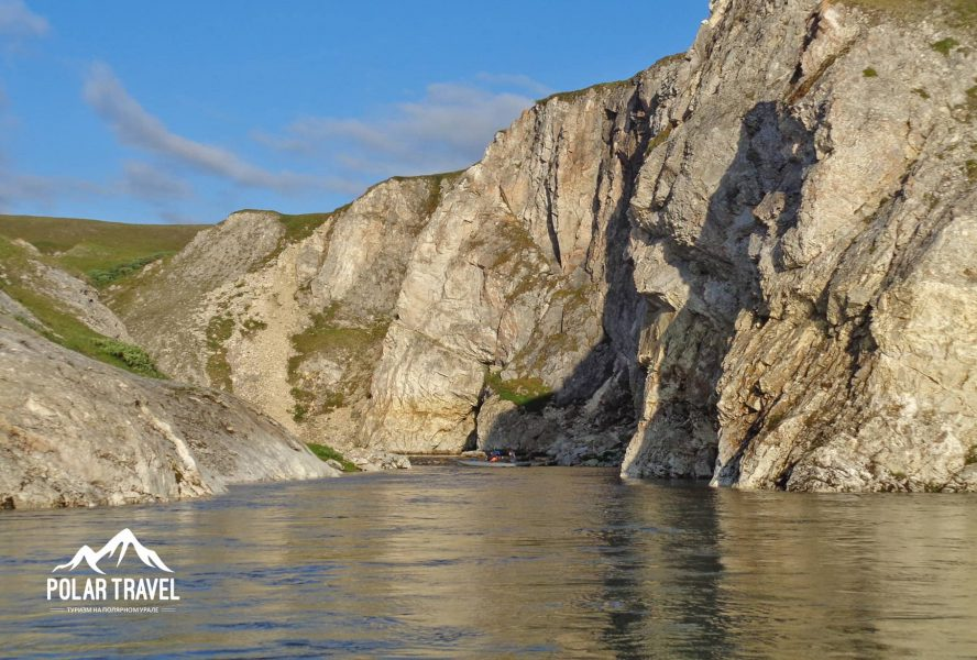 Беломраморный каньон, река Кара, Заполярье