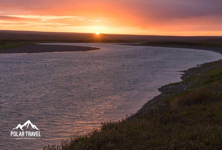 Река Кара, Заполярье