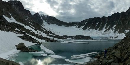Ледник Долгушина, хребет Оченырд, Полярный Урал