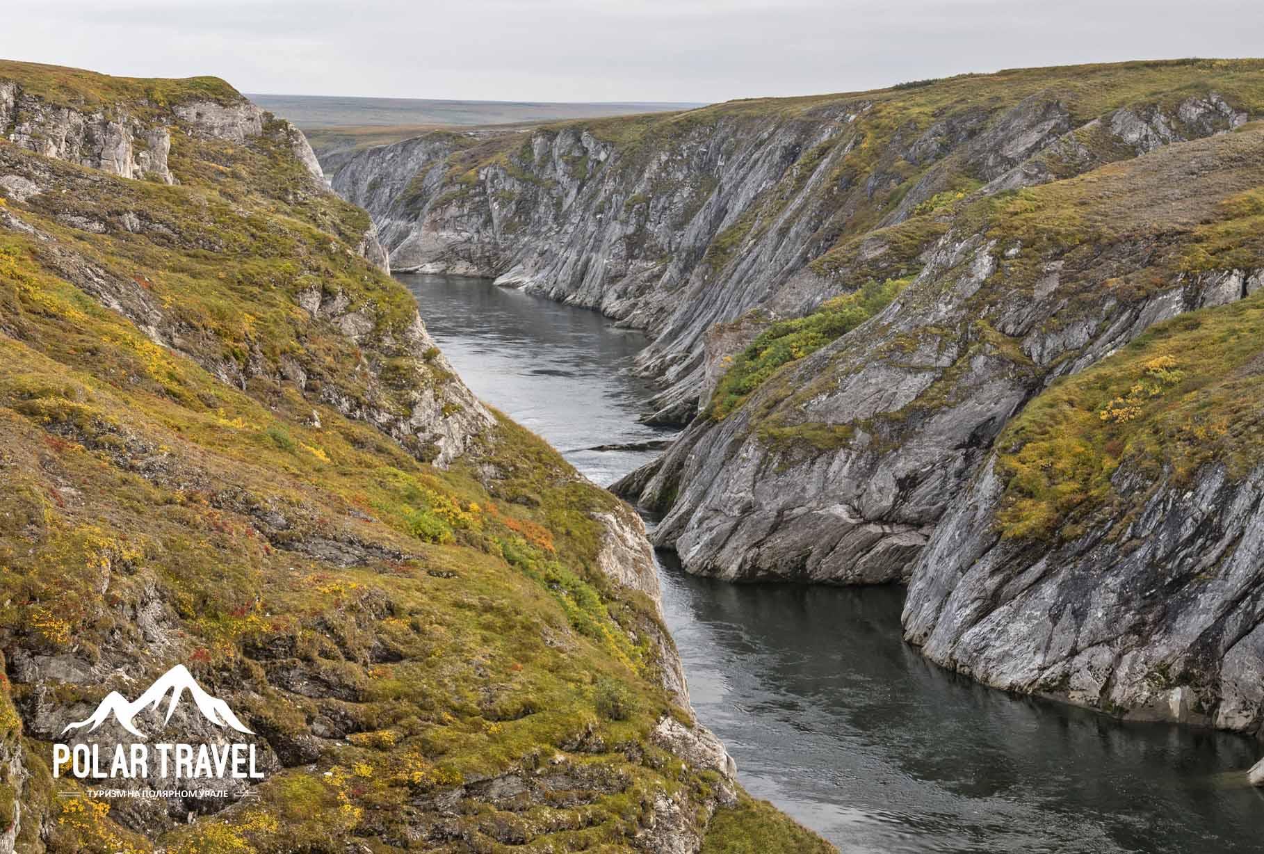 Беломраморный каньон, река Кара.